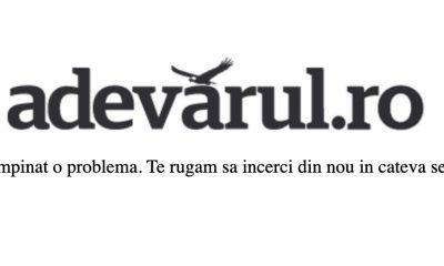 Site-ul adevarul.ro nu poate fi accesat de aseara