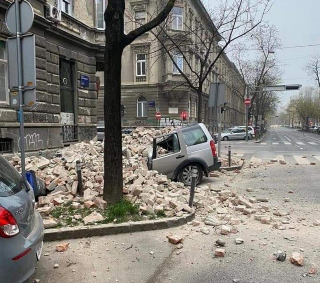 Cutremurul din Croația din 22 martie 2020, care a produs pagube materiale semnificative