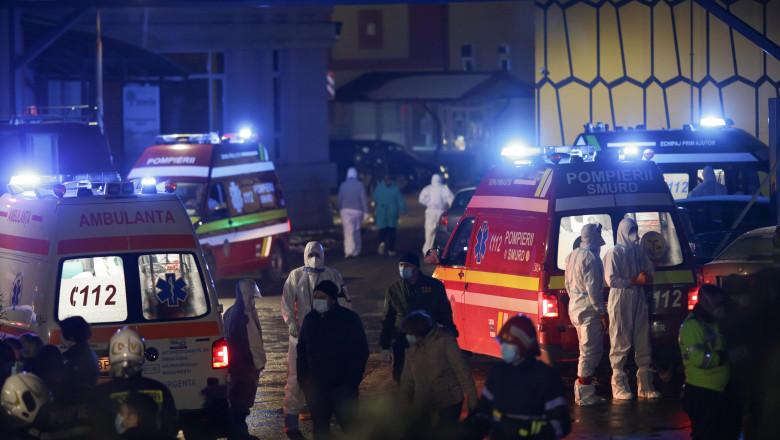 Spital Matei Balș, intervenția pompierilor și echipajelor SMURD