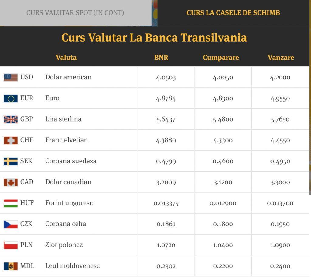 Curs Valutar Online – Curs BNR